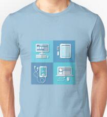 Modern Technologies: Laptop, Computer, Smart Phone, Tablet and Accessories.  Unisex T-Shirt