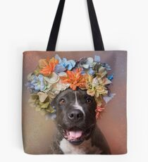 Flower Power, Angel smiling Tote Bag
