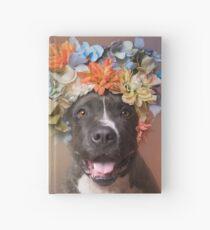 Cuaderno de tapa dura Flower Power, Angel sonriendo