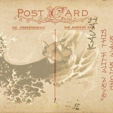 Hokusai thinking of you by Paulreynolds