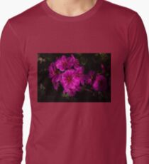 Shocking Pink and Fuchsia - a Vivid Succulent Bouquet Long Sleeve T-Shirt