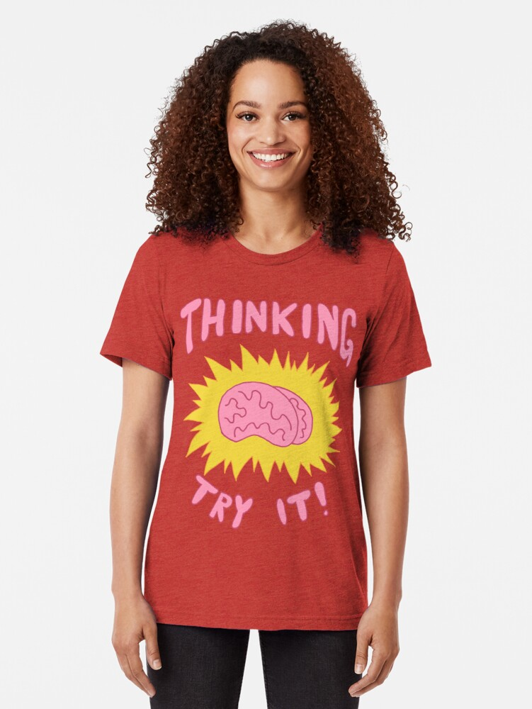 Alternate view of Thinking Try It! - Fabulous Brains, Man Tri-blend T-Shirt