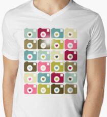 Camera Affair Mens V-Neck T-Shirt
