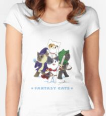 Fantasy Cats Women's Fitted Scoop T-Shirt