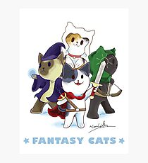 Fantasy Cats Photographic Print