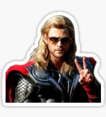 Peace Out ThorScout Sticker