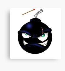 Angry Bomb Canvas Print
