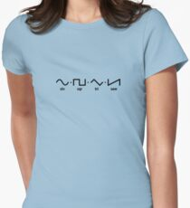 Waveforms (black graphic) Womens Fitted T-Shirt