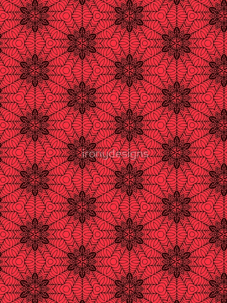 Red and Black geometric Abstract Pattern by ironydesigns