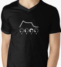 ADSR Envelope (white graphic) Men's V-Neck T-Shirt