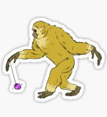 Yo-Yo Master Gibbon Sticker