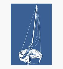 Sailboat (White) Photographic Print
