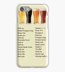 Beer in 26 Languages for Internationional Travelers iPhone Case/Skin