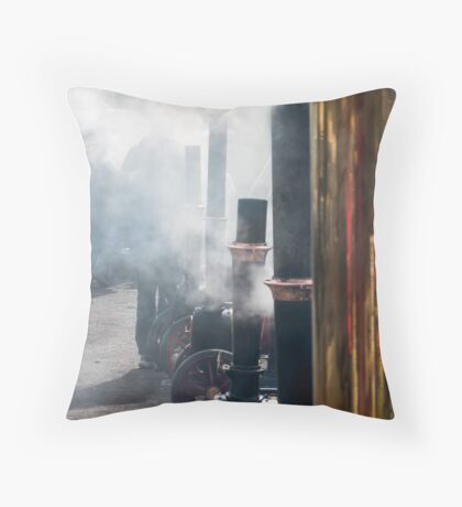 Steamy little ones  Throw Pillow