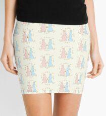 Love Bunnies with Flowers Mini Skirt