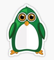 Green Penguin 2 Sticker