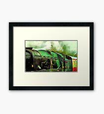 Green Steam again Framed Print