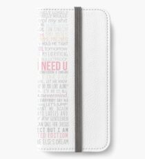 BTS Lyrics iPhone Wallet/Case/Skin