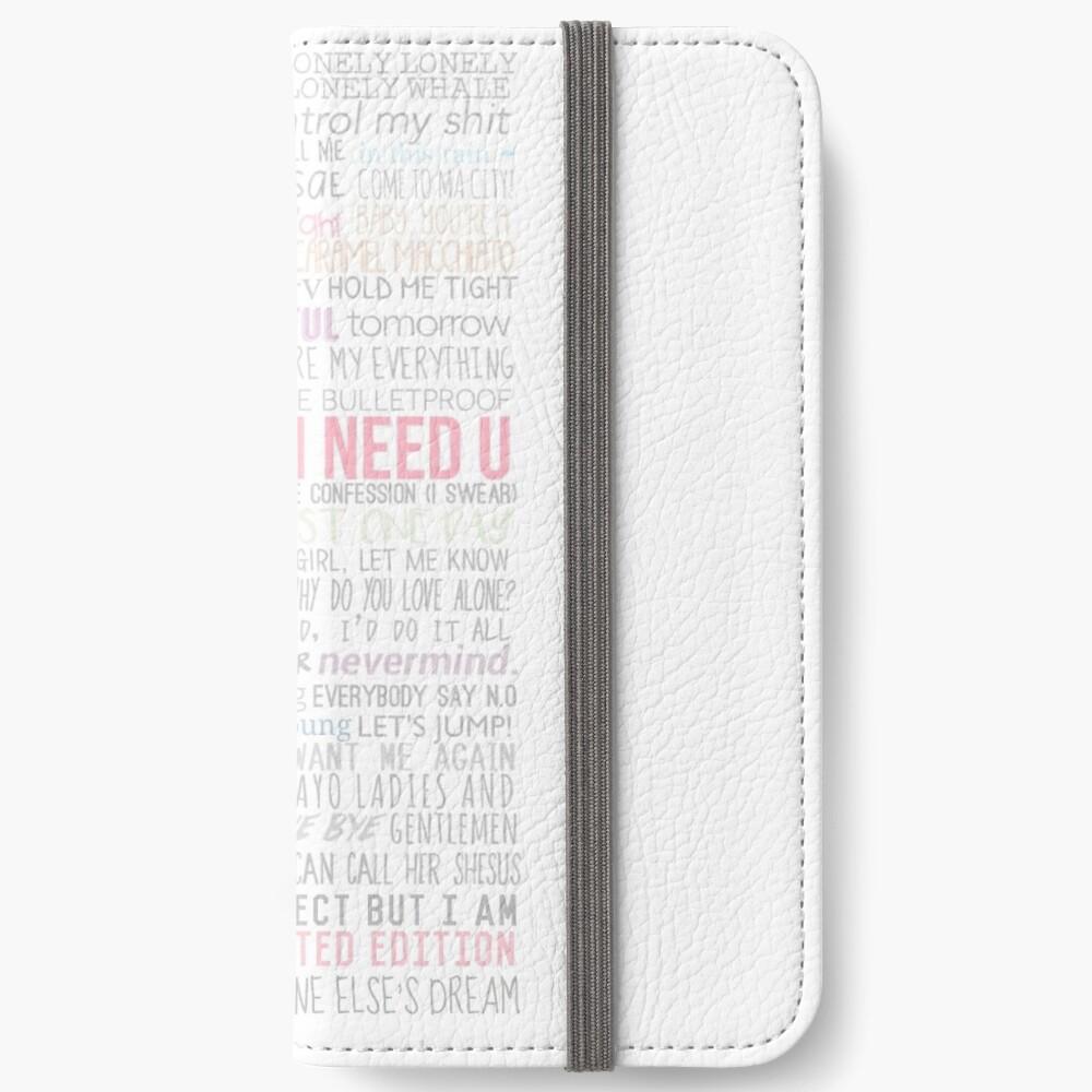 BTS Lyrics iPhone Flip-Case