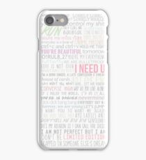 BTS Lyrics iPhone Case/Skin