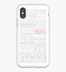 BTS Lyrics iPhone Case