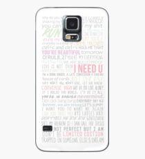 Funda/vinilo para Samsung Galaxy BTS Letras de canciones
