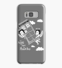 The Angels have the Phone Box - Version 3 BW (for dark tees) Samsung Galaxy Case/Skin