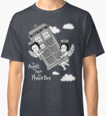 The Angels have the Phone Box - Version 3 BW (for dark tees) Classic T-Shirt