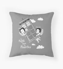 The Angels have the Phone Box - Version 3 BW (for dark tees) Throw Pillow