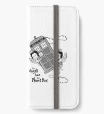 The Angels have the Phone Box - Version 3 BW (for light tees) iPhone Wallet/Case/Skin