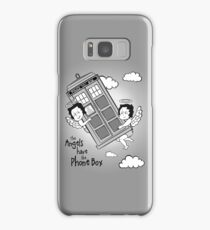 The Angels have the Phone Box - Version 3 BW (for light tees) Samsung Galaxy Case/Skin