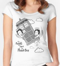 The Angels have the Phone Box - Version 3 BW (for light tees) Women's Fitted Scoop T-Shirt