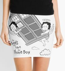 The Angels have the Phone Box - Version 3 BW (for light tees) Mini Skirt