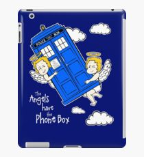 The Angels have the Phone Box - Version 4 (for dark tees / white outlines)  iPad Case/Skin