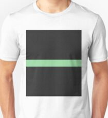 Simple Division - Abstract, Geometric, Minimalist Pop Art Style In Green T-Shirt