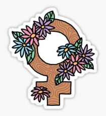 Peace Feminist Feminism Girly Flawless Sassy Girly Tumblr Flower 90s Daisy Print Sticker