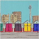 Hove Beach Huts by Adam Regester