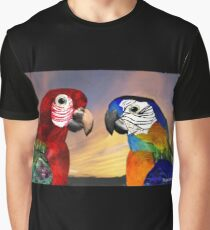 HYPER PARROTS / RED AND BLUE ARA Graphic T-Shirt