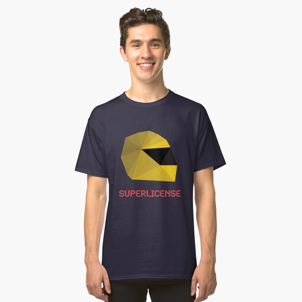 Superlicense F1 t-shirt Classic T-Shirt Front