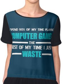 Computer Gaming Chiffon Top