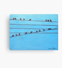 Birds, Wires 11 Canvas Print