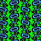 Surf Girl Abstract Repeat Pattern  by LouisaCatharine