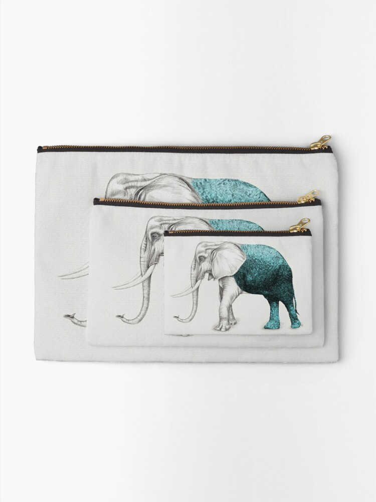 Alternate view of The Stone Elephant Zipper Pouch