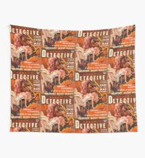 """""""Saucy Detective"""" Vintage Spy Pulp Magazine Cover Wall Tapestry"""