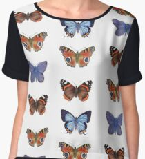 Butterflies Women's Chiffon Top