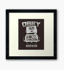 Obey The Robot Framed Print