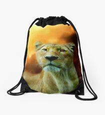 Lioness Is Near 2 Drawstring Bag