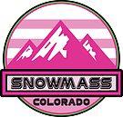 Skiing Snowmass Colorado Snow Ski Mountains Pink by MyHandmadeSigns