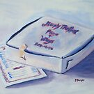 Pizza Box with Menu by Pamela Burger