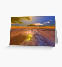 HYPERION WORLD /ALIEN SEASCAPE SKY AND CLOUDS  Sci-Fi Greeting Card